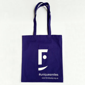 Purple #uniquesmiles Tote Bag